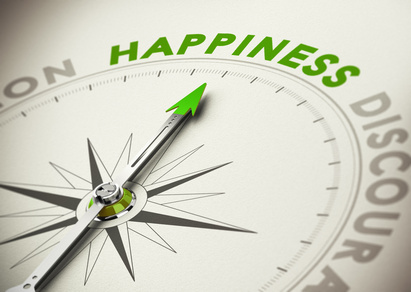 Achieving Happiness Concept